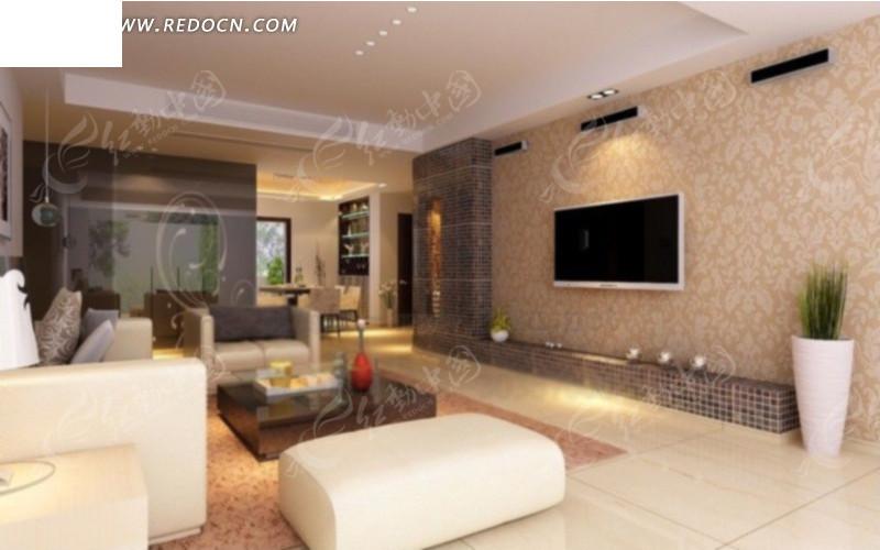 客厅内餐边柜方向装修设计效果图高清图片