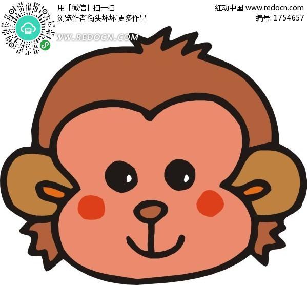 卡通 猴子头