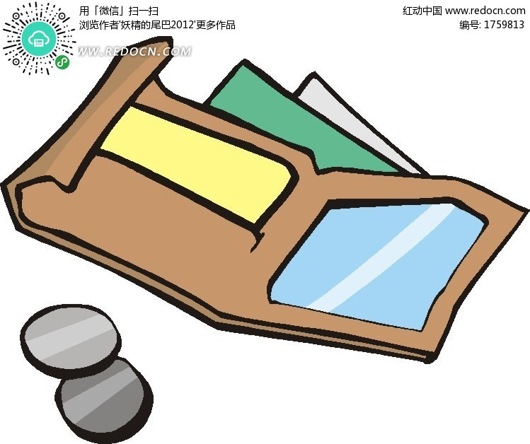 卡通钱包设计图片