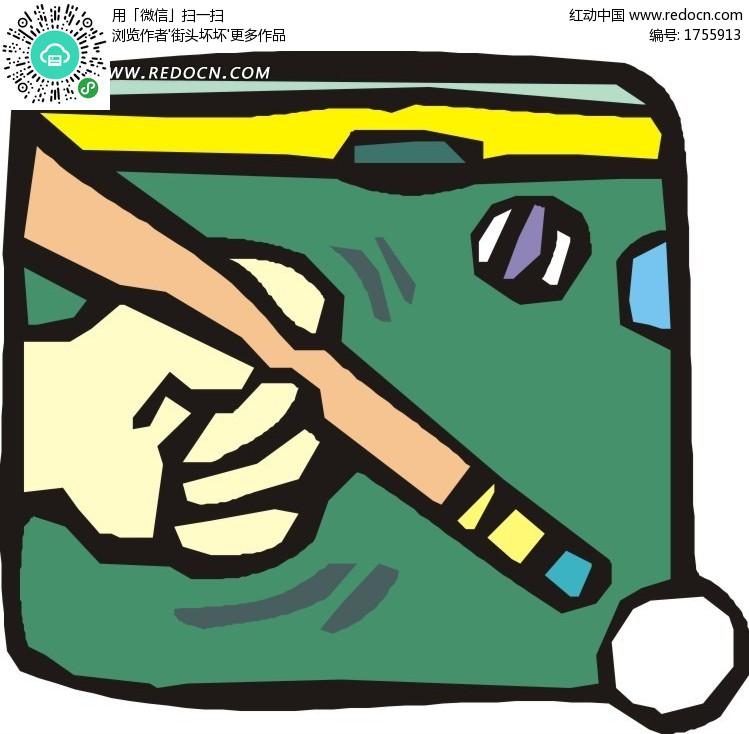 涂鸦桌球卡通画 生活百科 矢量素材下载 编号 1755913