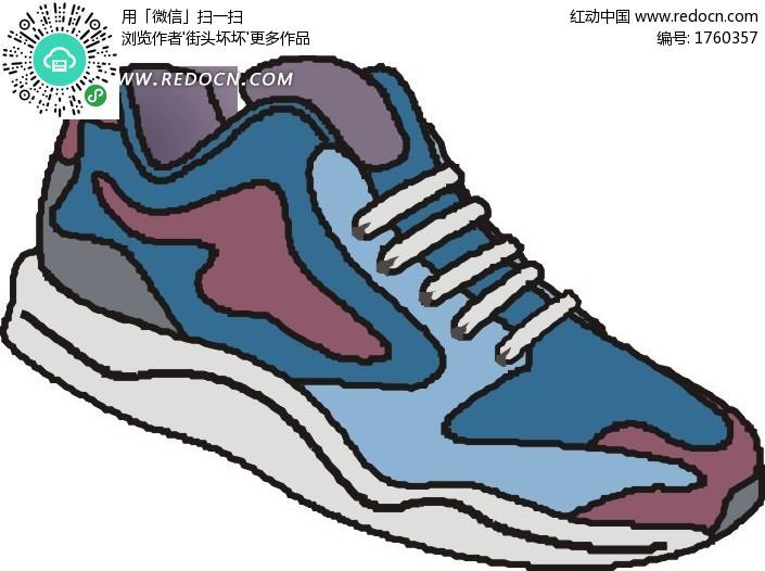 一只手绘鞋子设计图片