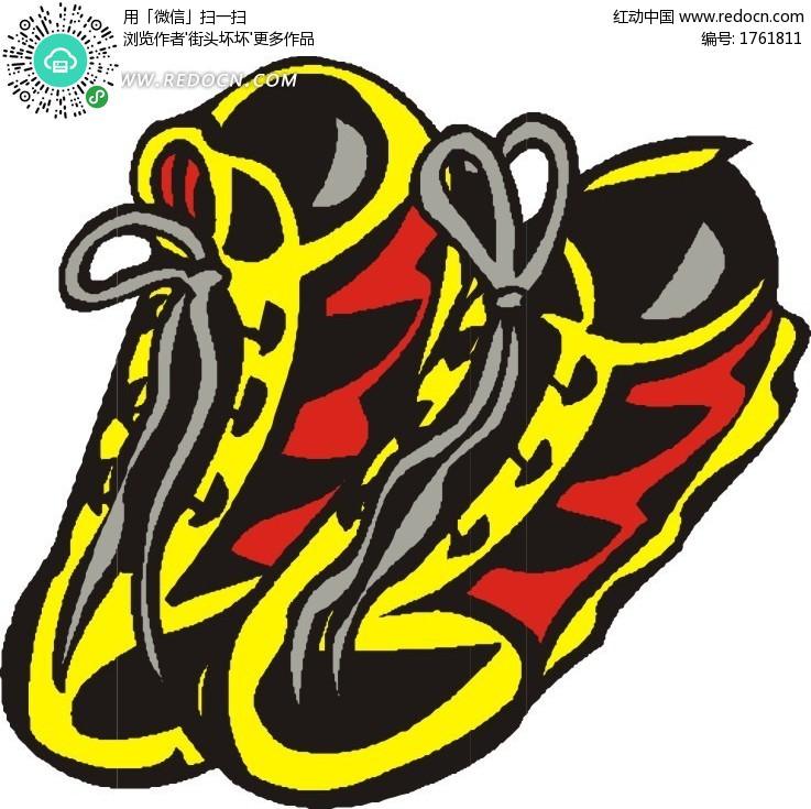 手绘漂亮的鞋子设计图片