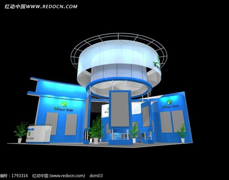 模型科技产品展厅max蓝色设计模板下载(编号云熙定制板式家具生产设计软件图片