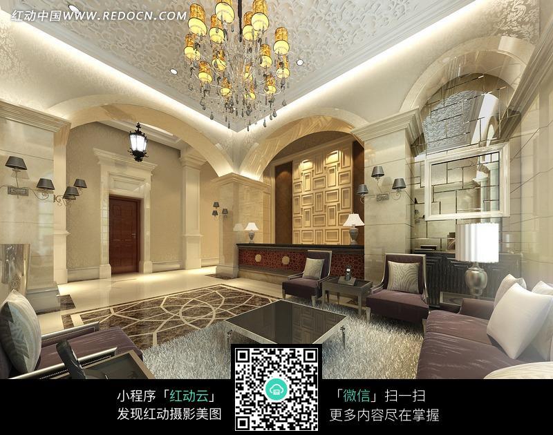 华丽的欧式风格 酒店 大堂设计图片图片
