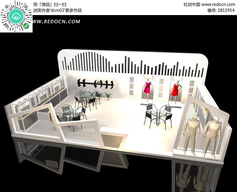 关键词:服装3d展厅展览设计3d展示造型效果图